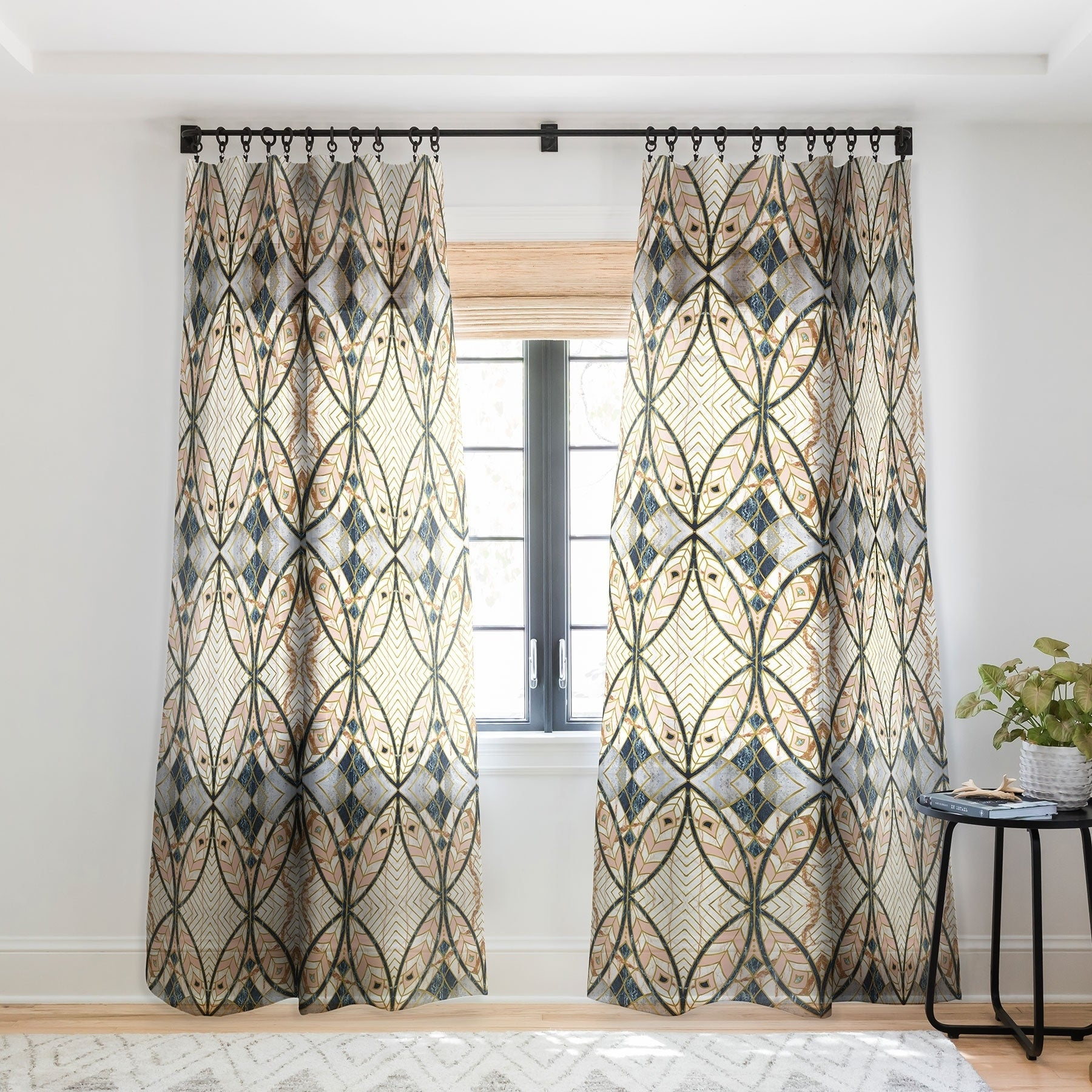 Marta Barragan Camarasa Pattern Mosaic Art Deco I Single Panel Sheer Curtain 50 X 84 On Sale Overstock 22044569