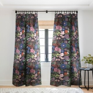 "Deny Designs Floral Sheer Single Curtain Panel- 50""x84"" - 50 X 84"