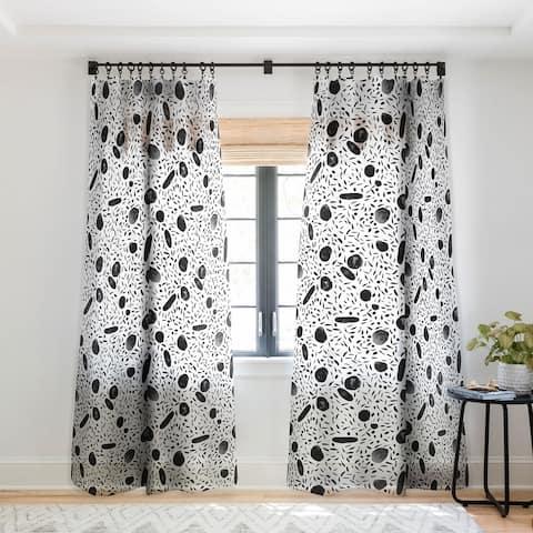 Mareike Boehmer Watercolor Dots Single Panel Sheer Curtain - 50 X 84