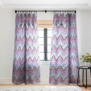Schatzi Brown Pena Chevron Single Panel Sheer Curtain