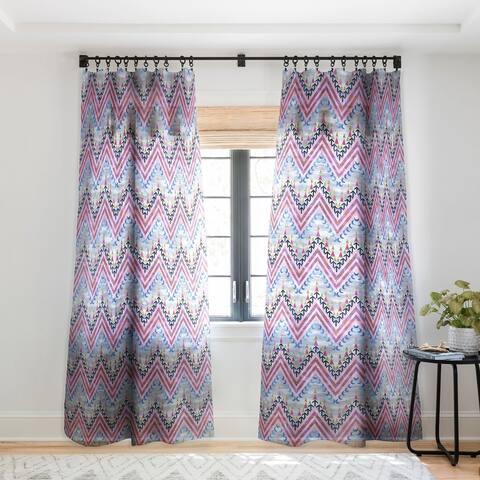 Schatzi Brown Pena Chevron Single Panel Sheer Curtain - 50 x 84
