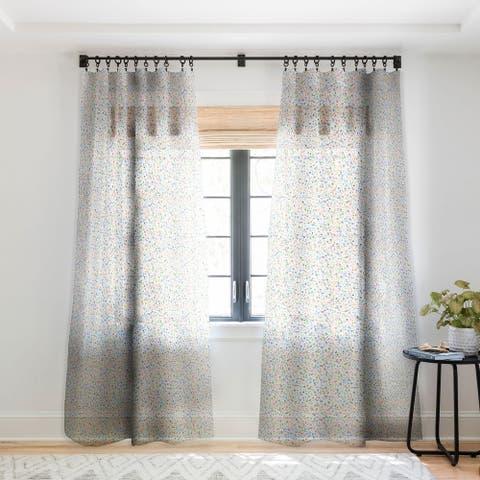 Ninola Design Multicolored pastel bubbles dream Single Panel Sheer Curtain - 50 X 84