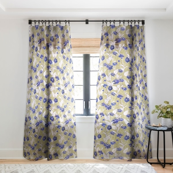 Schatzi Brown Justina Floral Tan Single Panel Sheer Curtain - 50 x 84. Opens flyout.
