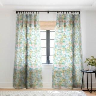 Schatzi Brown Leopard Pattern Snow Single Panel Sheer Curtain