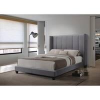 Hudson Grey Velvet Upholstered Bed