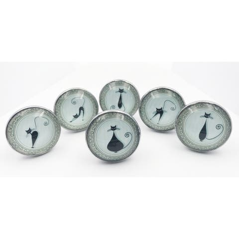Kitty Cat Themed Drawer Pulls, Cabinet Knobs - Set of 6 Knobs