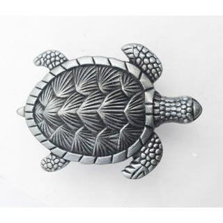 Turtle Silver Metal Drawer, Cabinet, Furniture Knobs - Set of 6