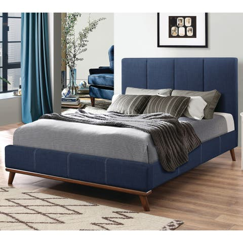 Charity Blue Upholstered Bed
