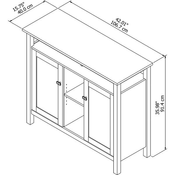 Copper Grove Rustavi White Console Storage Table