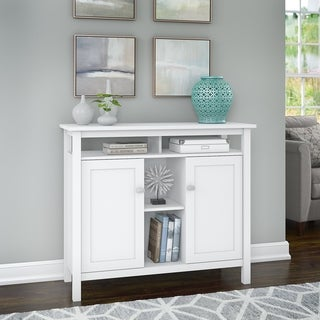 Bush Furniture Broadview Console Table with Storage in White