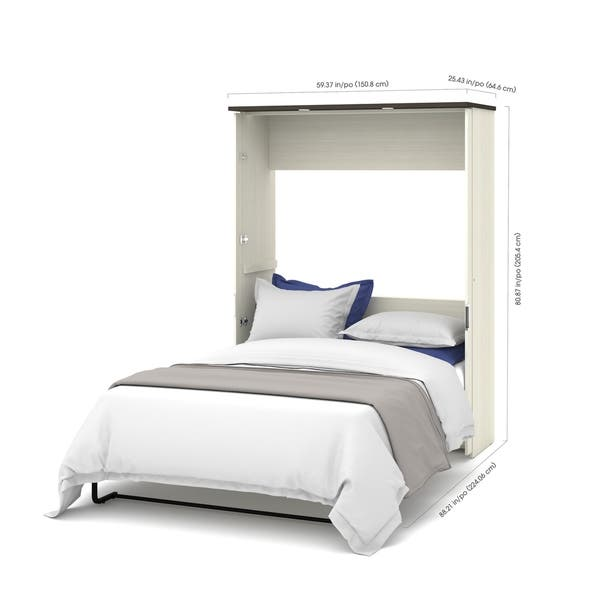 Shop Bestar Lumina 3 Piece Full Wall Bed With Desk And 2