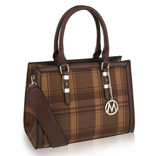 MKF Collection Miley Plaid Satchel/ Shoulder Bag by Mia K Farrow (5 options available)
