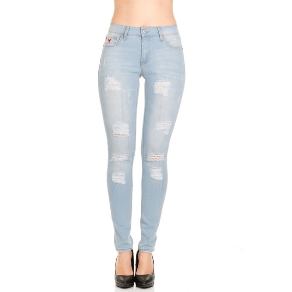 Shop Red Jeans Slim Fit Women s Denim Jeans - Free Shipping On Orders Over   45 - Overstock.com - 22045415 afe9f4b87