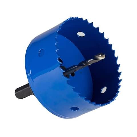 "MrCool 3.5"" Bi-Metal Hole Saw with Locking Quick Change Arbor - Blue"