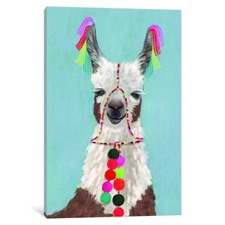 """iCanvas """"Adorned Llama I"""" by Victoria Borges Canvas Print"""