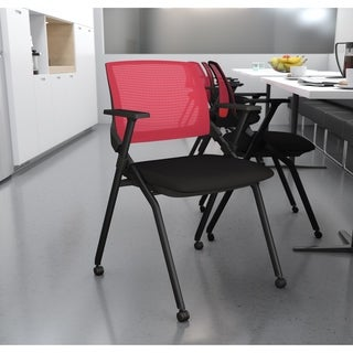 Bestar Black and Red Nesting Chair, 2-pack