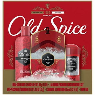 Old Spice Swagger Deodorant, Shampoo & Conditioner and Duo Cleanser Dopp Bag Gift Set