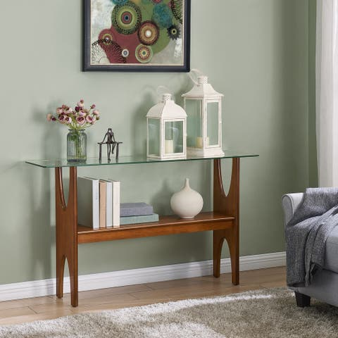 Carson Carrington Esbo Dark Sienna Console Table