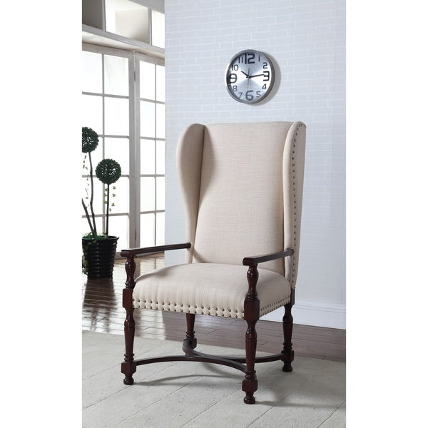 Shop Best Master Furniture Natural King Wingback Arm Chair   Free Shipping  Today   Overstock   22045596