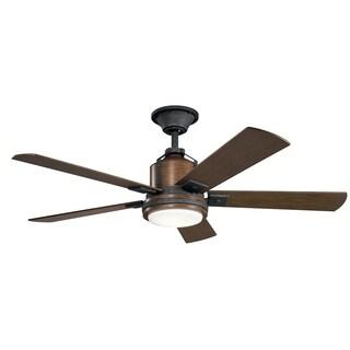 Kichler Lighting Colerne Collection 52-inch Distressed Black LED Ceiling Fan