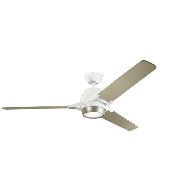 Kichler Lighting Zeus Collection 60 Inch White Led Ceiling Fan