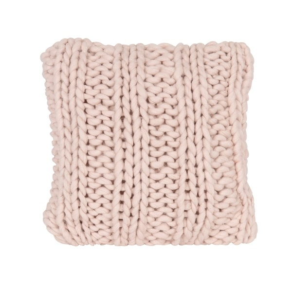 Shop Chunky Knit Pillow Cover Free Shipping Today Overstock
