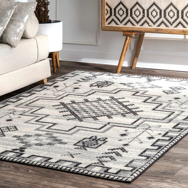 Nuloom Contemporary Modern Abstract Tribal Medallion Area Rug 5 X27 X