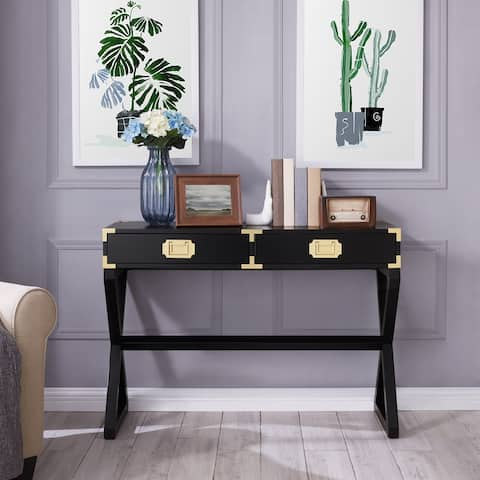 The Curated Nomad Goulet Black Console Table