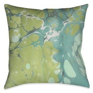 Laural Home Ocean Bubbles Marble II Outdoor Decorative Pillow