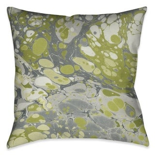 Laural Home Emerald Marble Outdoor Decorative Pillow