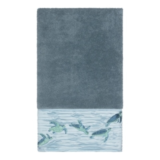 Link to Authentic Hotel and Spa Turkish Cotton Turtles Embroidered Teal Blue Bath Towel Similar Items in Towels