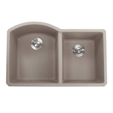 Highpoint Collection 60/40 Undermount Granite Composite Sink