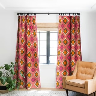 Sharon Turner Tangerine Kilim Blackout Curtain Panel