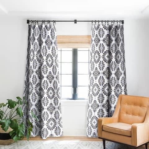 Andi Bird Butterfly Ornamental Beige Blackout Curtain Panel