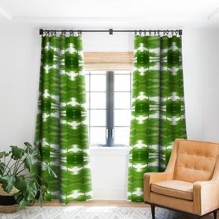 Rosie Brown Garden Stripes Blackout Curtain Panel