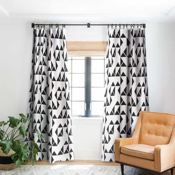 Holli Zollinger Pinwheels Blackout Curtain Panel