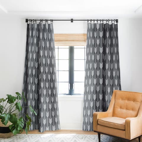 Holli Zollinger Arrows Grey Blackout Curtain Panel