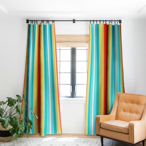 Sharon Turner Deckchair Stripe Blackout Curtain Panel