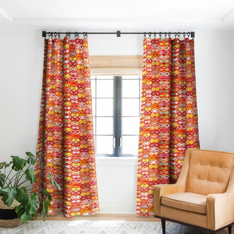 Sharon Turner Raveena Ikat Blackout Curtain Panel
