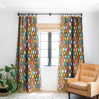 Sharon Turner Almas Diamond Ikat Blackout Curtain Panel