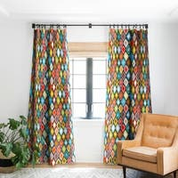 Sharon Turner Almas Diamond Ikat Blackout Curtain Panel