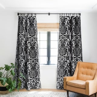 Link to Sharon Turner Aya damask Blackout Curtain Panel - 96 Inches - (As Is Item) Similar Items in As Is
