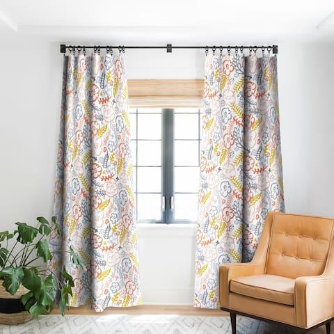 Heather Dutton Floral Brush Blackout Curtain Panel