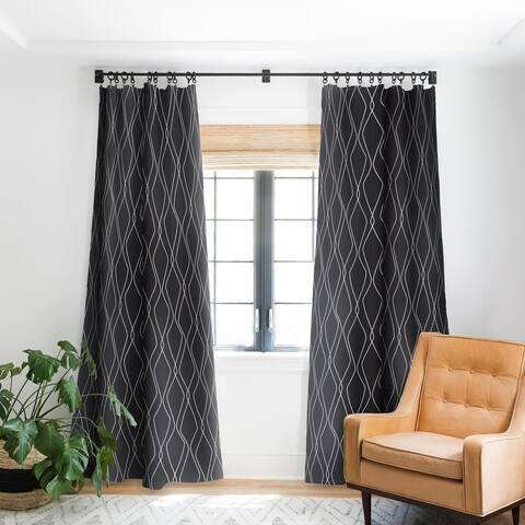 Heather Dutton Fuge Slate Blackout Curtain Panel