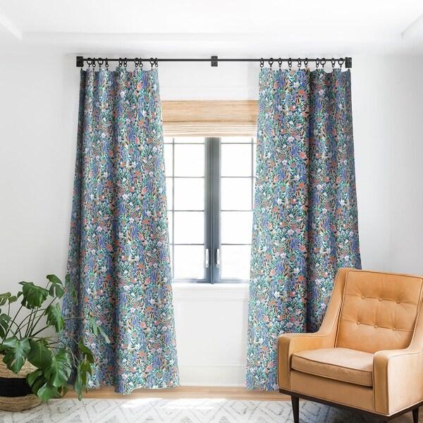 Jacqueline Maldonado Nonchalant Coral Blackout Curtain Panel