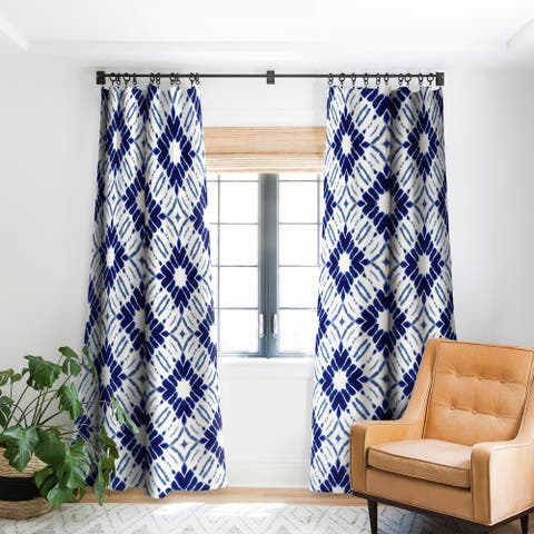 Jacqueline Maldonado Shibori Blue Blackout Curtain Panel