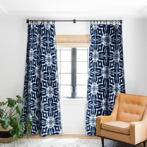 Jacqueline Maldonado Shibori Indigo Blackout Curtain Panel