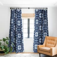 Jacqueline Maldonado Shibori Indigo Blackout Curtain Panel