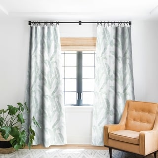 Deny Designs Banana Leaf Blackout Single Curtain Panel