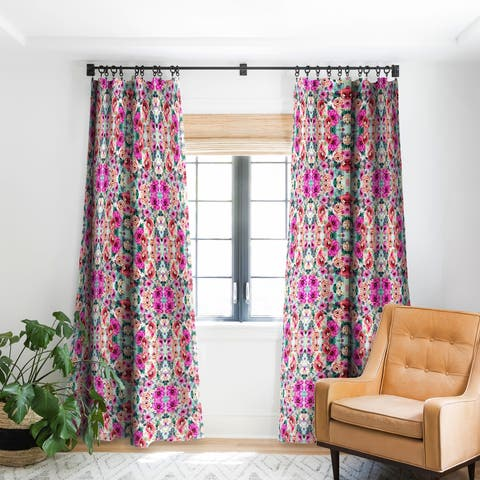Marta Barragan Camarasa Abstract Geometrical Flowers Blackout Curtain Panel